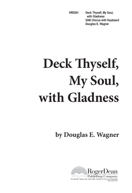 Deck Thyself, My Soul, With Gladness