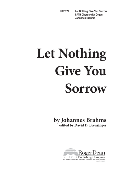 Let Nothing Give You Sorrow