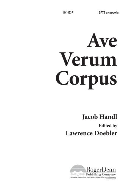 Ave Verum Corpus