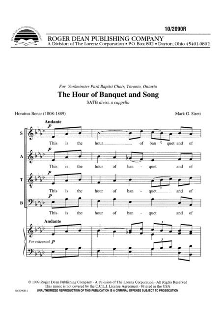 The Hour of Banquet and Song
