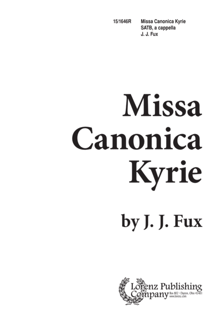 Missa Canonica Kyrie