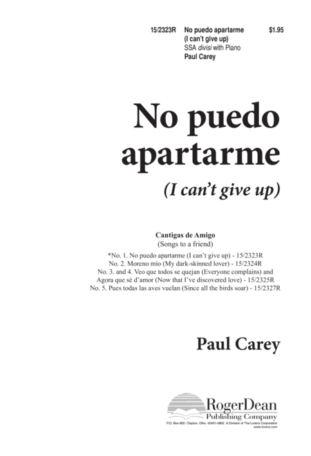No puedo apartarme (I can't give up)