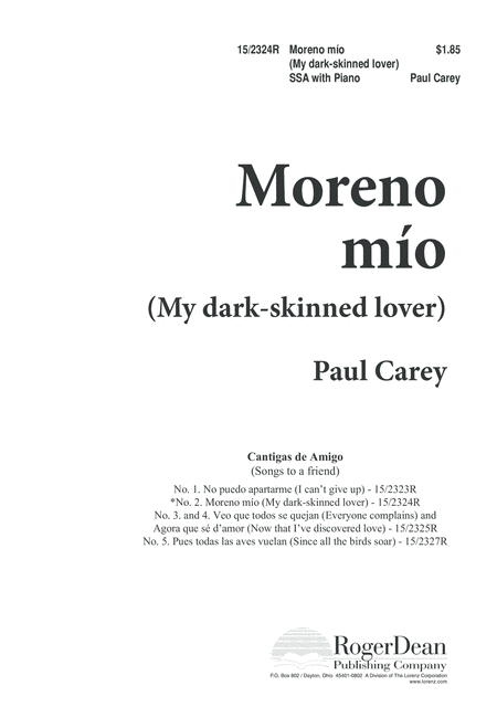 Moreno mio (My dark-skinned lover)