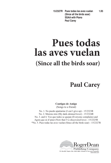 Pues todas las aves vuelan (Since all the birds soar)