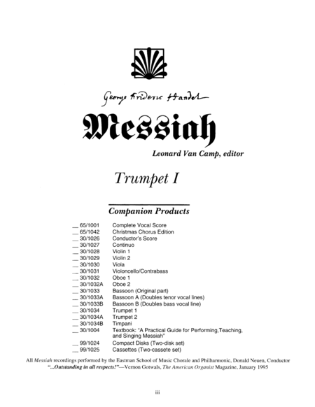 Messiah - Trumpet I