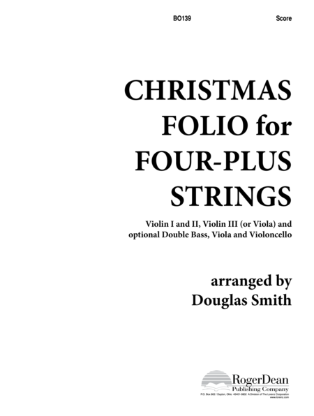 Christmas Folio for Four-Plus Strings - Score
