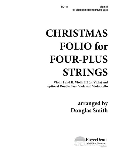 Christmas Folio for Four-Plus Strings - Vln/Bass
