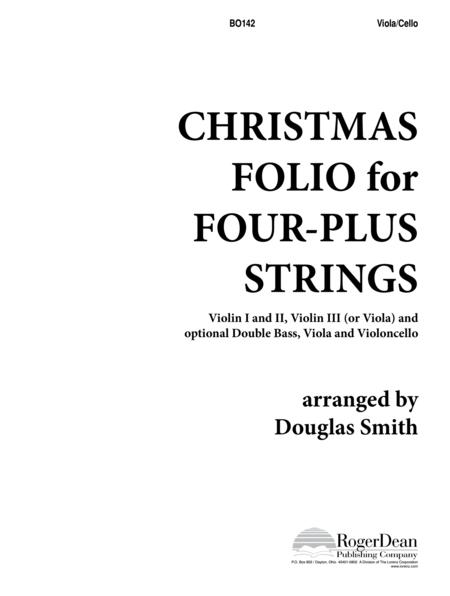 Christmas Folio for Four-Plus Strings - Viola/Cello