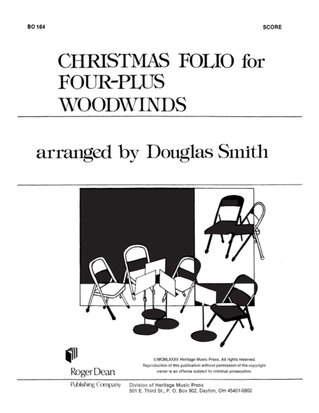 Christmas Folio for Four-Plus Woodwinds - Score