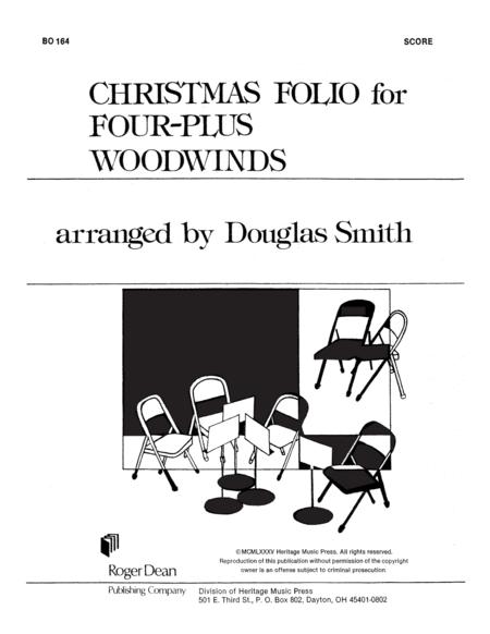 Christmas Folio for Four-Plus Woodwinds - Score
