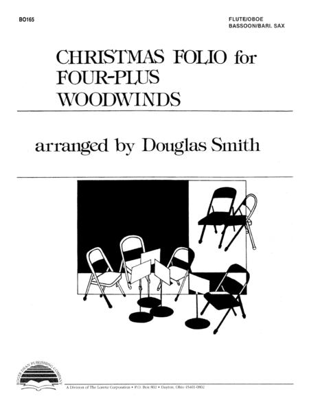 Christmas Folio for Four-Plus Woodwinds - Flute/Oboe