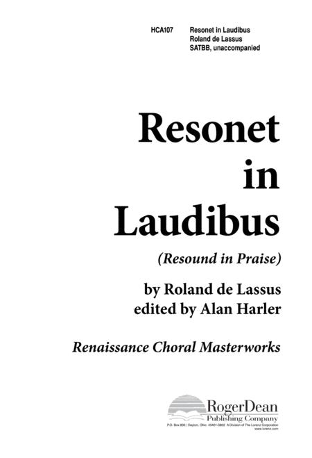 Resonet in Laudibus