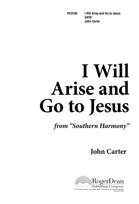 I Will Arise And Go To Jesus
