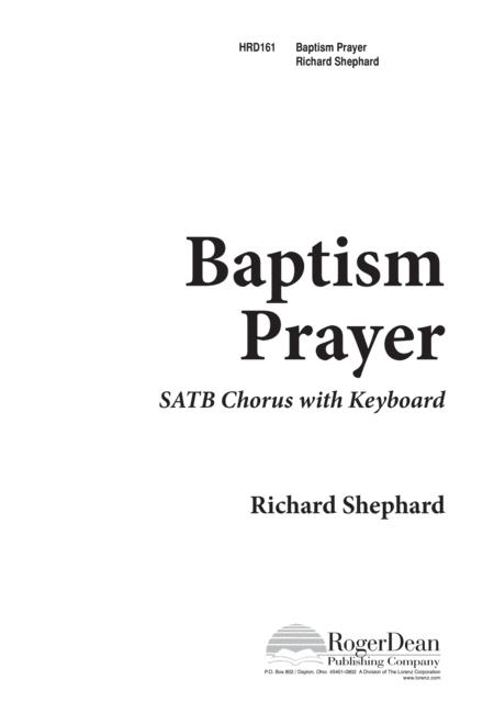 Baptism Prayer