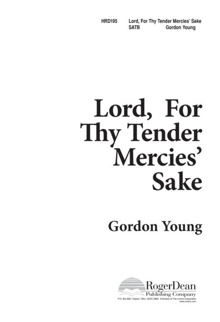 Lord, for Thy Tender Mercie's Sake