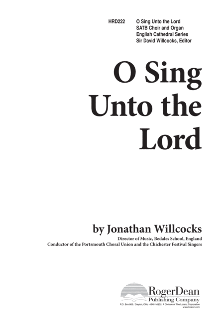 O Sing Unto the Lord