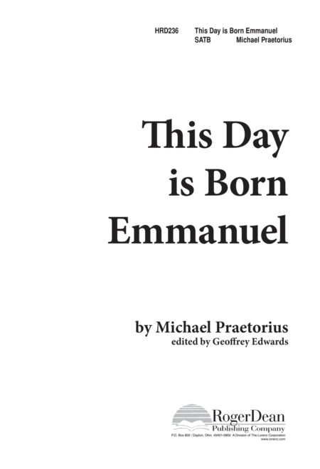 This Day is Born Emmanuel