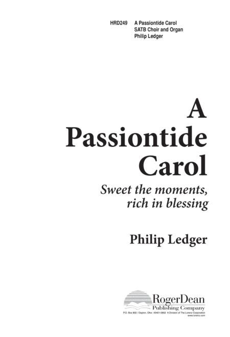 A Passiontide Carol