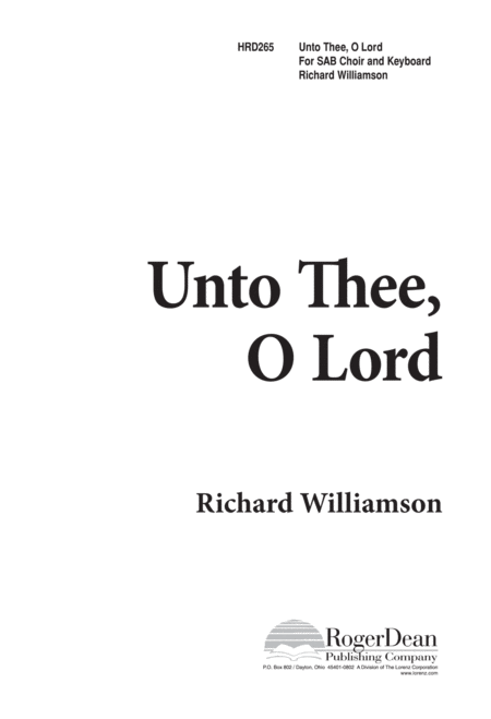 Unto Thee, O Lord