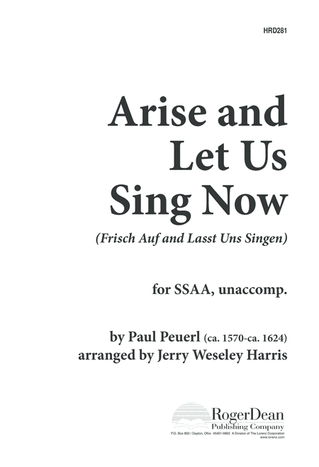 Arise and Let Us Sing Now
