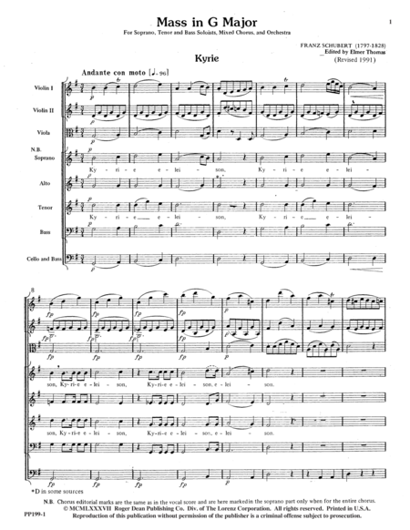 Mass in G - Conductor's Score