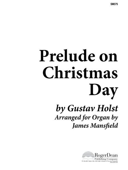 Prelude on Christmas Day