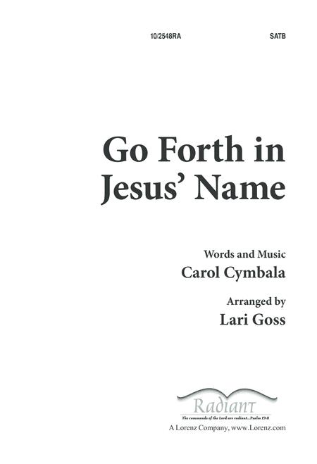 Go Forth in Jesus' Name