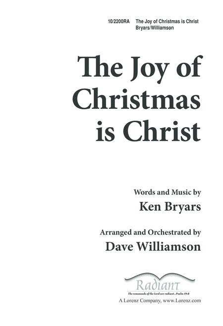 The Joy of Christmas Is Christ