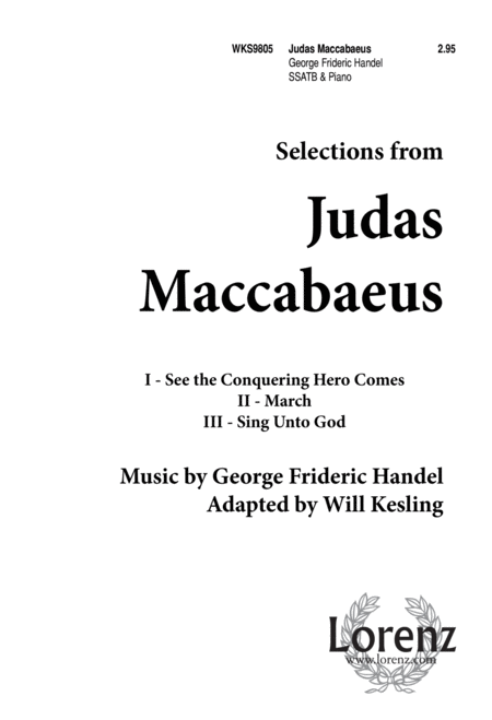 Judas Maccabaeus (Selections)