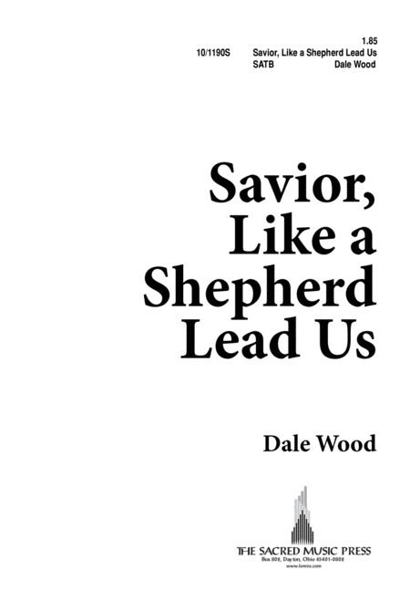 Savior, Like a Shepherd, Lead Us
