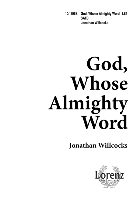 God Whose Almighty Word