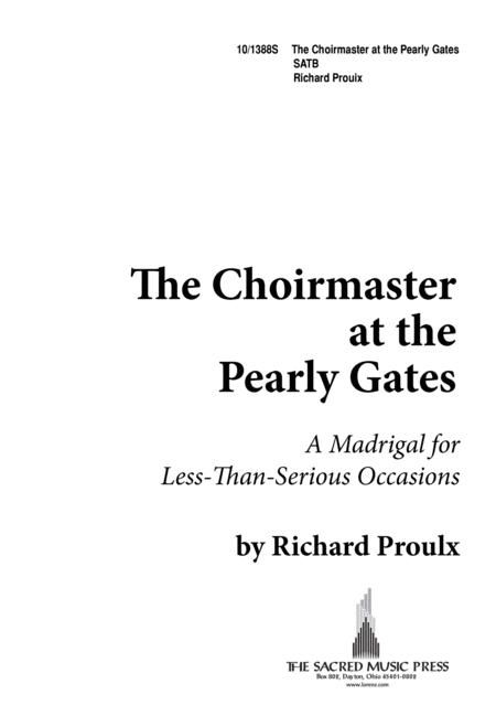 The Choirmaster at the Pearly Gates