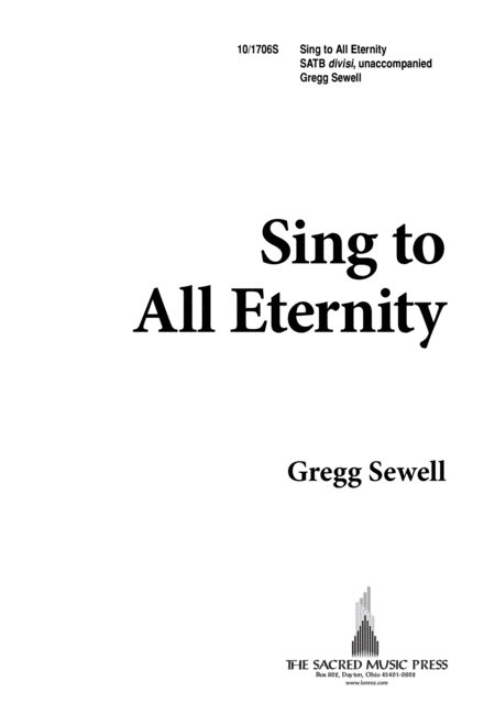 Sing to All Eternity