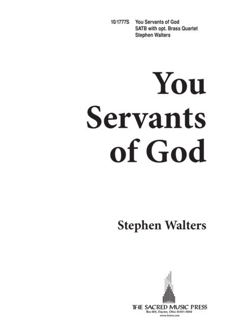 You Servants of God
