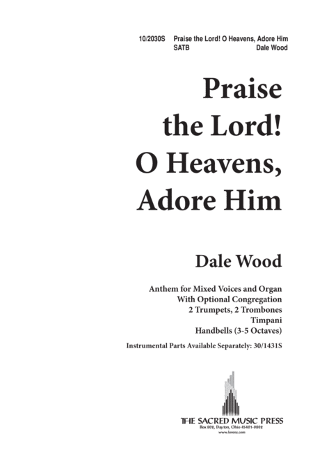 Praise the Lord, O Heavens Adore Him