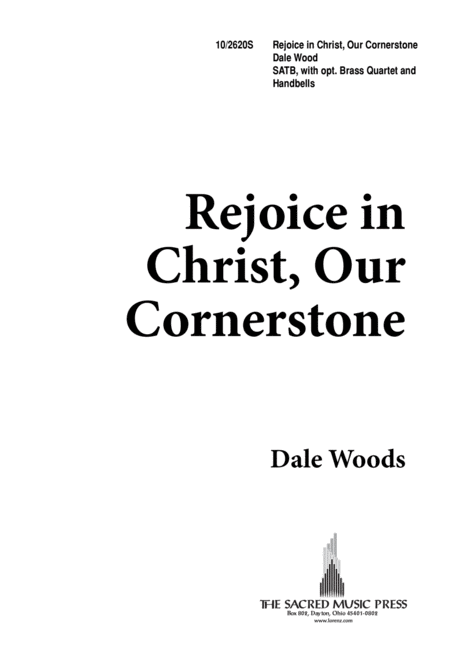 Rejoice In Christ Our Cornerstone