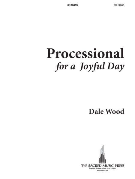 Processional for a Joyful Day - Piano