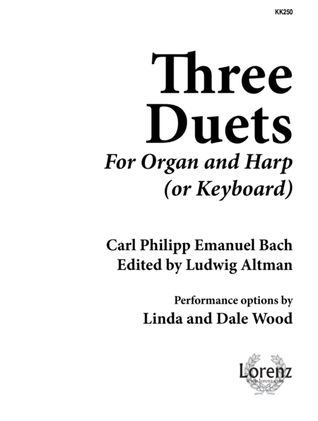Three Duets for Organ and Harp
