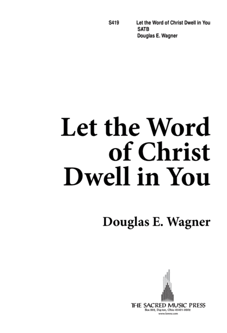 Let the Word of Christ Dwell in You