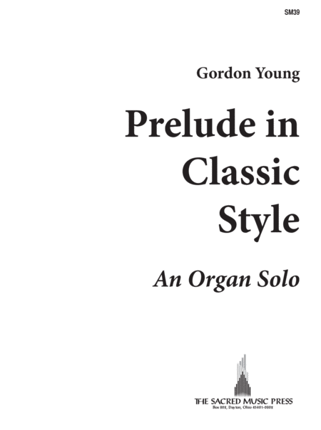 Gordon Young - Prelude in Classic Style - YouTube