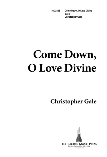 Come Down, O Love Divine