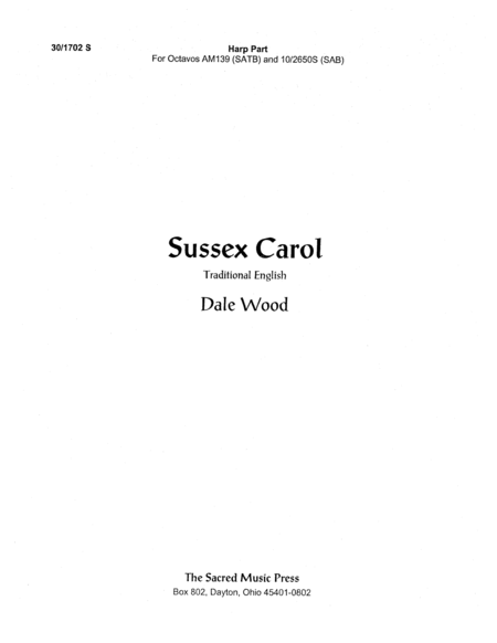 Sussex Carol - Harp Part
