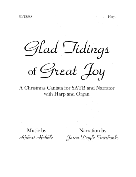 Glad Tidings of Great Joy - Harp Part
