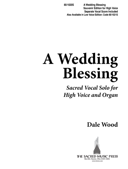 A Wedding Blessing - High Voice
