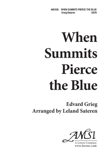 When Summits Pierce the Blue