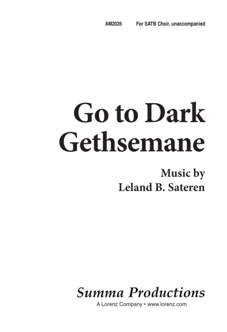 Go to Dark Gethsemane