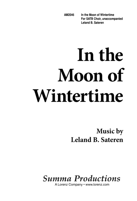 In the Moon of Wintertime