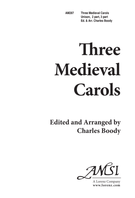 Three Medieval Carols