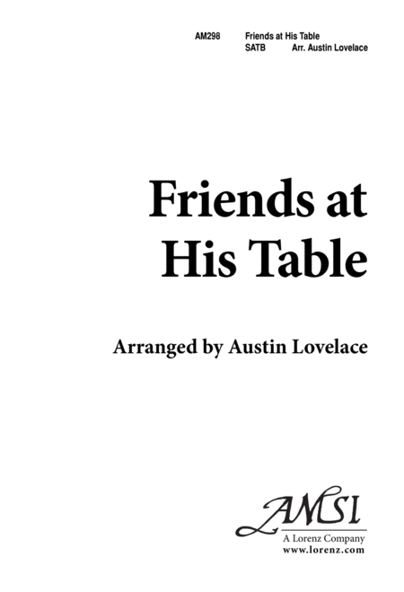 Friends at His Table
