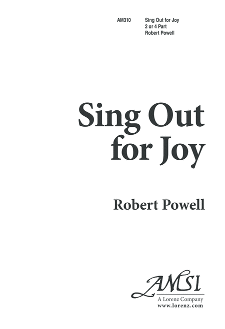 Sing Out for Joy!